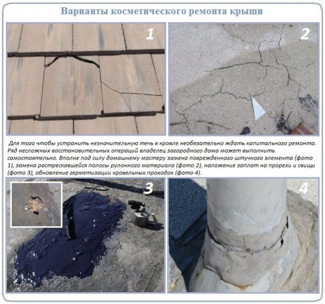Дефекты кровли, доступные для ремонта крыши своими руками