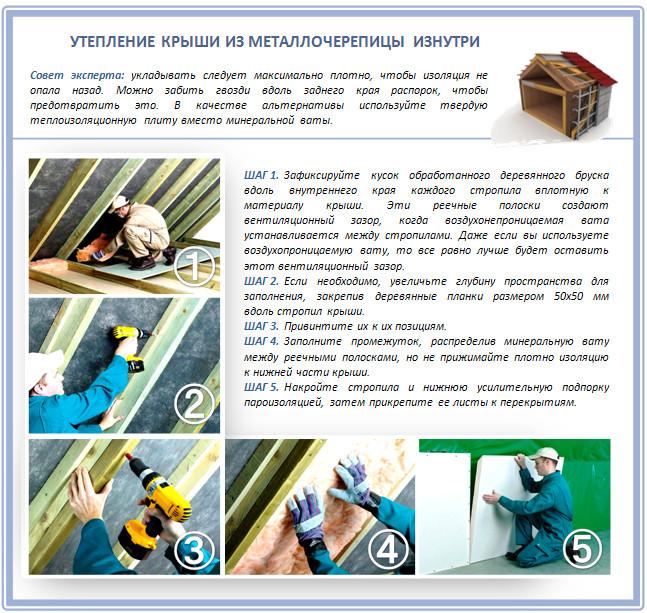 Как утеплить крышу стекловатой