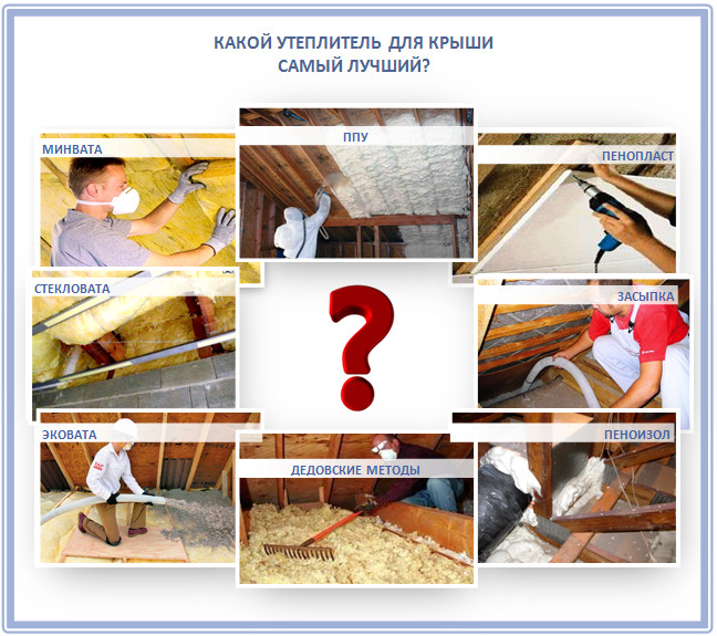 Какой утеплитель для крыши лучше?