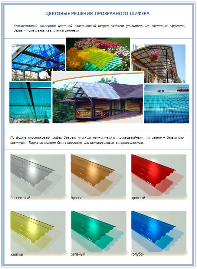 Цветной пластиковый шифер