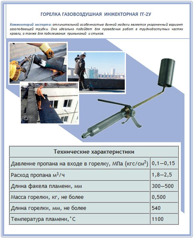 Газовая горелка ГГ-2У для кровли