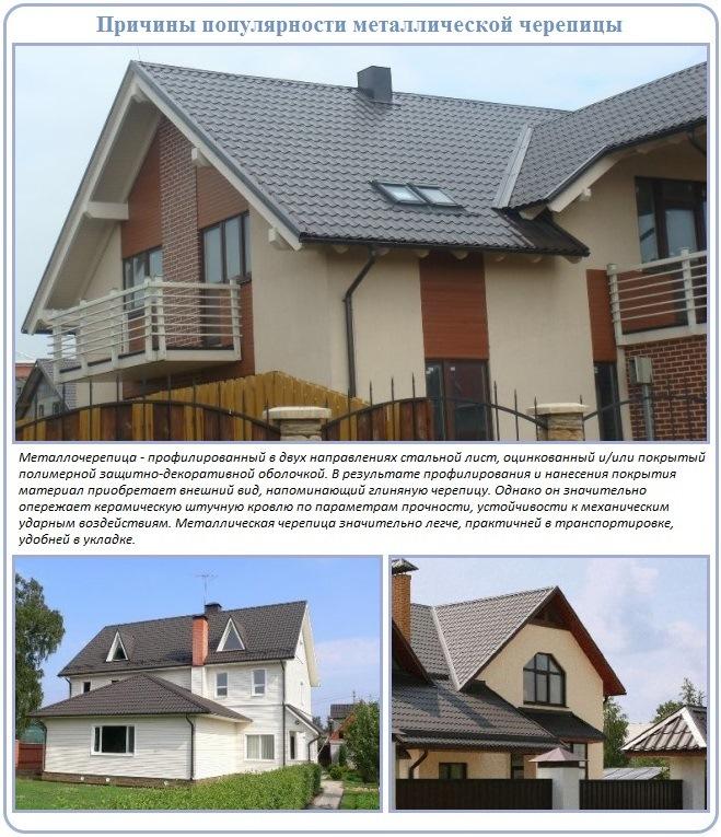Преимущества металлочерепицы для решения задач малоэтажного строительства
