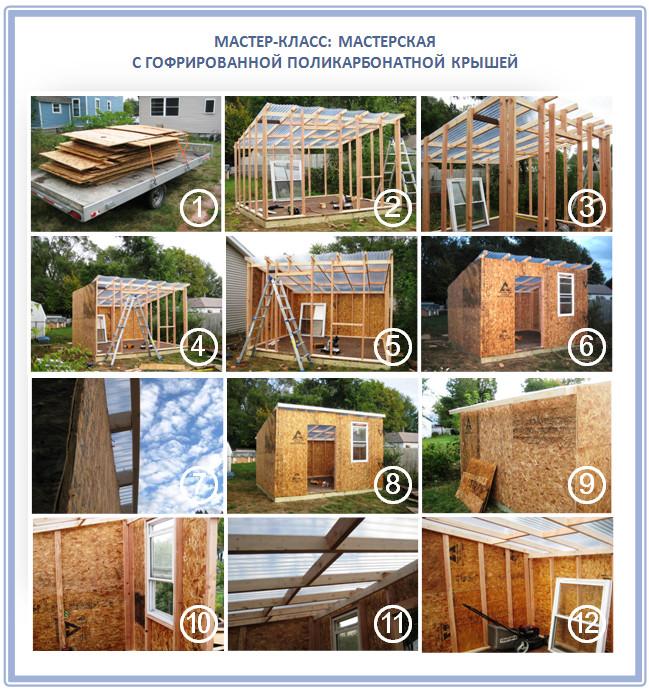 Как построить мастерскую с прозрачной крышей
