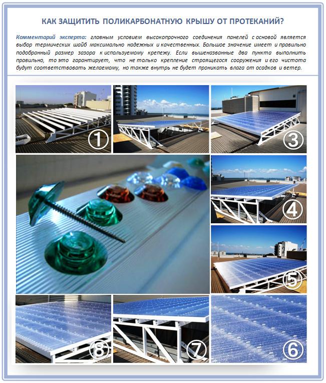 Невидимый монтаж поликарбоната на крышу