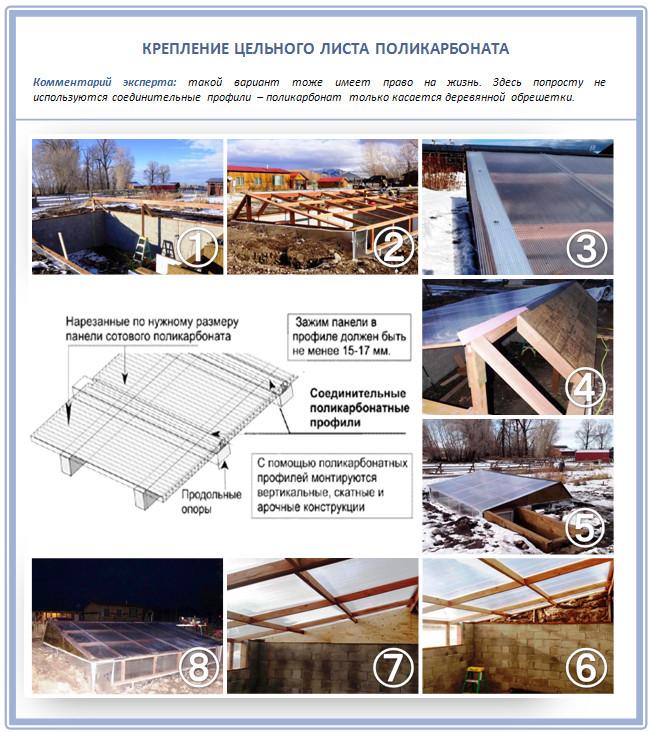 Как установить поликарбонат на крышу?