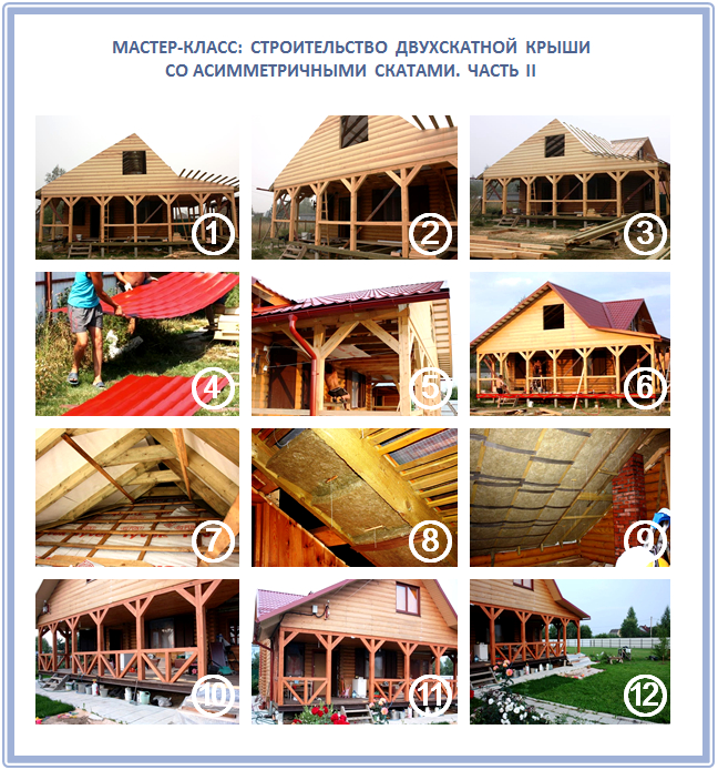 Как построить двускатную крышу веранды