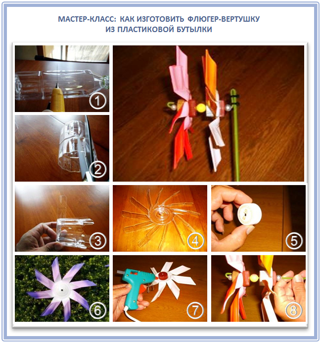 Как сделать флюгер с пропеллером из пластиковой бутылки