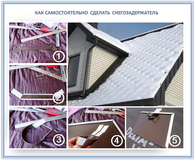 Как сделать снегозадержатель для крыши?
