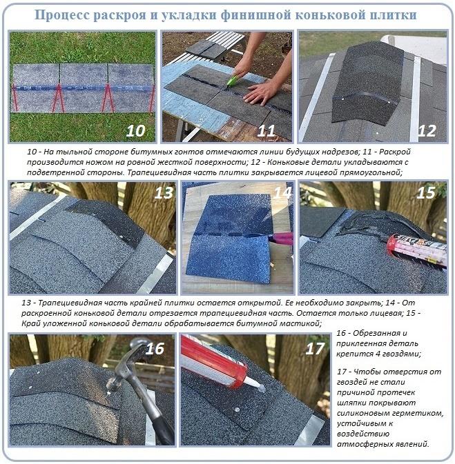 Как сделать и уложить детали конька на крышу своими руками