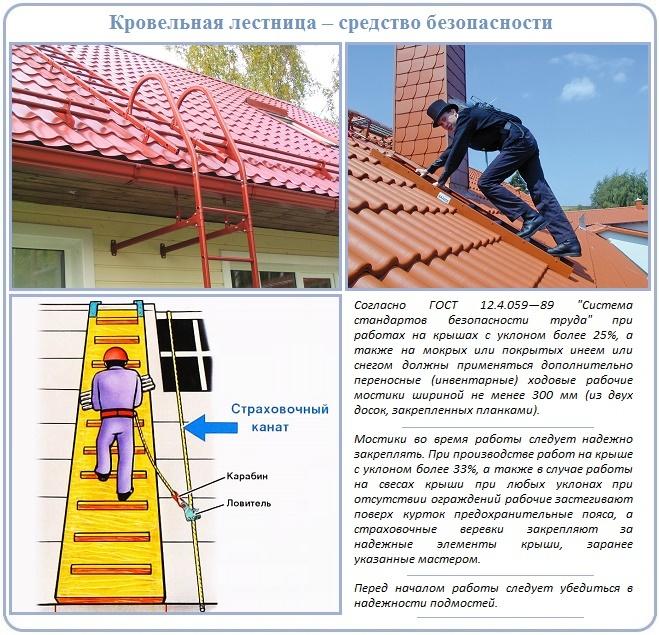 Лестница для кровли крыши: назначение