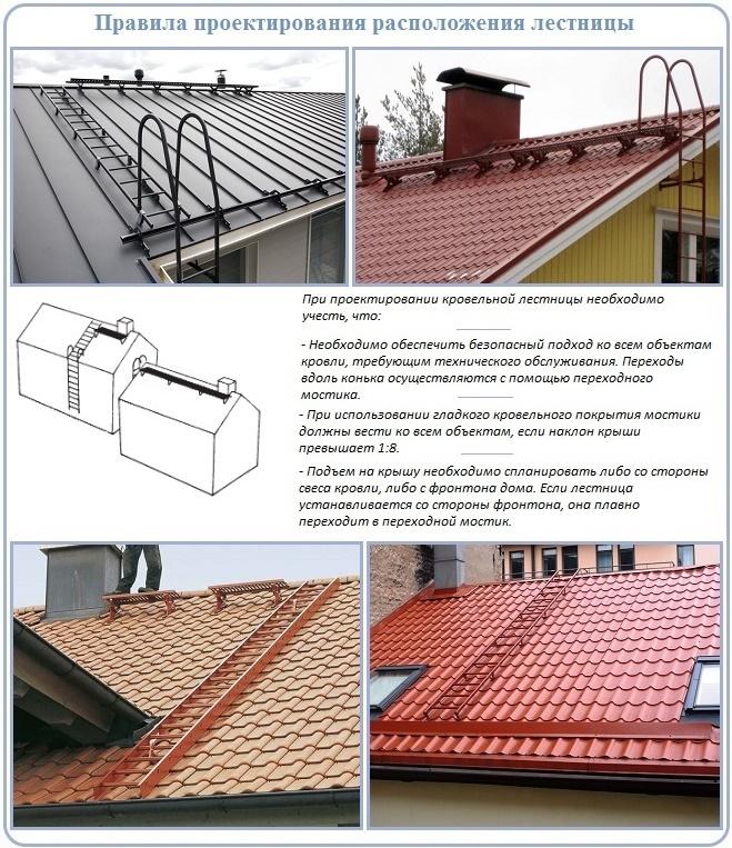 Как спроектировать лестницу для кровли крыши