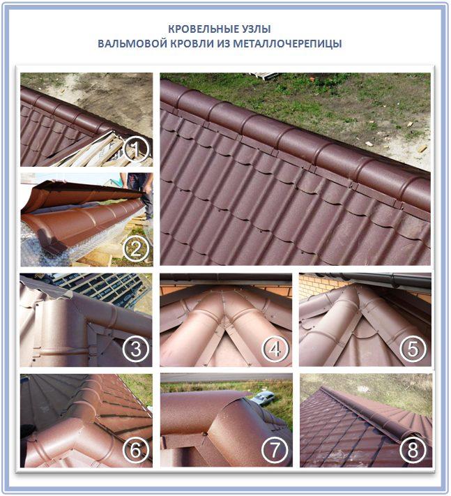 Как покрыть узлы вальмовой крыши своими руками?