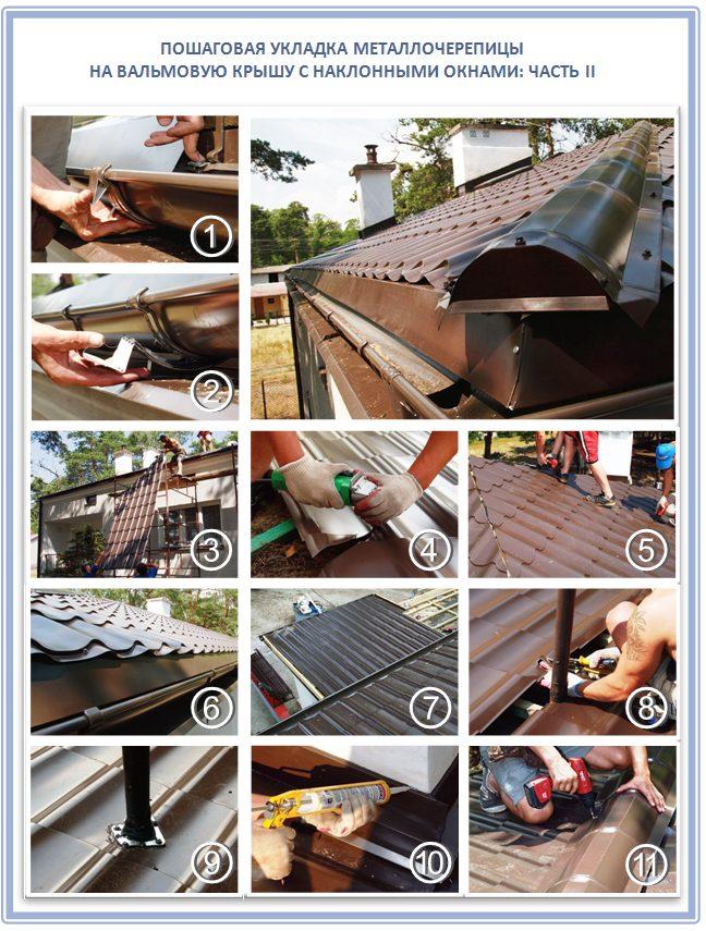 Как сделать обрешетку на вальмовой крыше под металлочерепицу