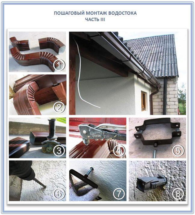 Как крепить водостоки к крыше