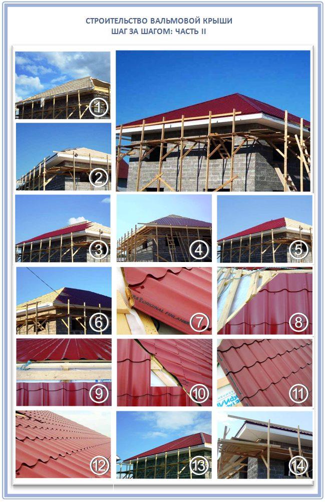 Строительство вальмовой крыши шаг за шагом