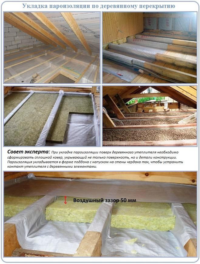 Особенности устройства пароизоляции в перекрытии деревянного дома