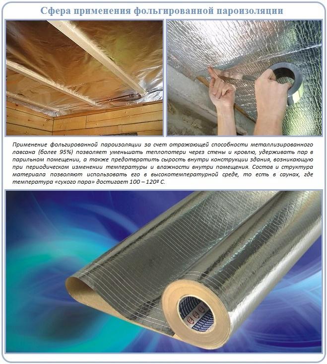 фольгированный материал для пароизоляции потолка в бане