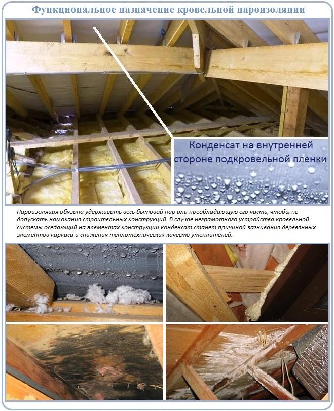 Цель укладки пароизоляции на крышу