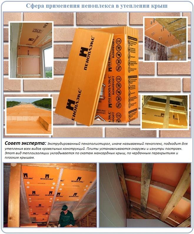 Какие крыши утепляют пеноплексом