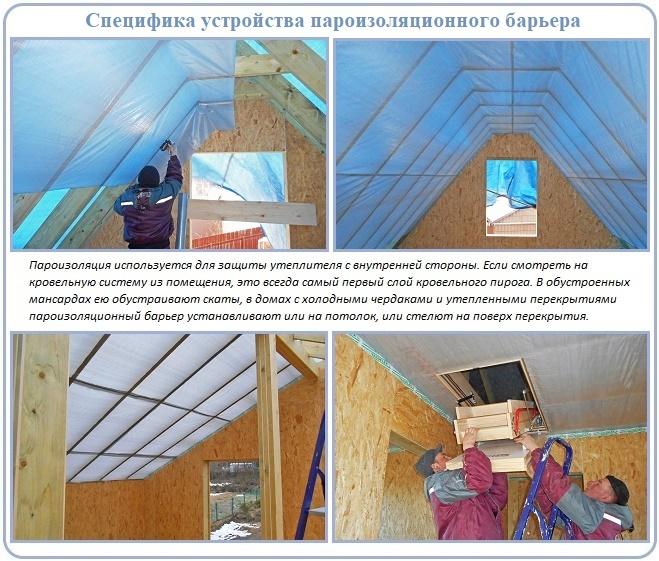 Зачем нужна пароизоляция крыши