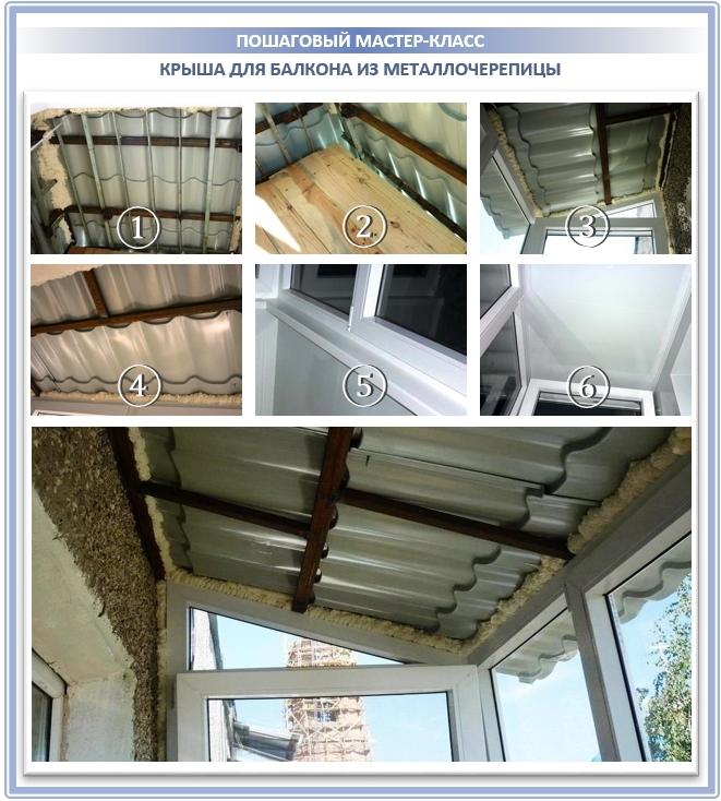 Закрепление крыши на балконе