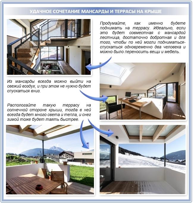 Как удобно разместить террасу на крыше?