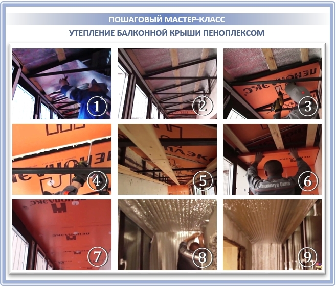 Теплоизоляция балконной крыши: шаг за шагом