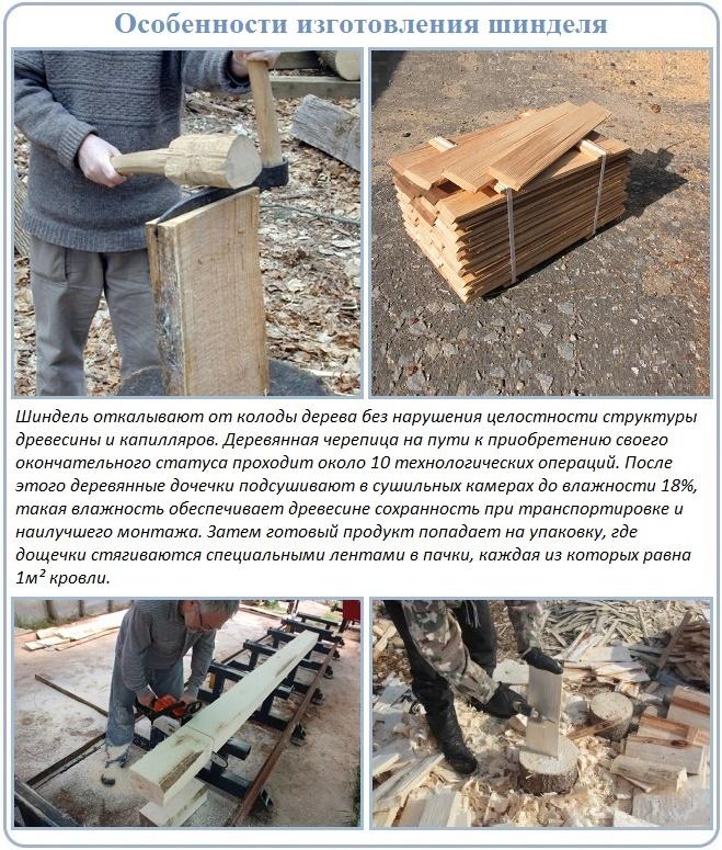 Изготовление шинделя для кровли деревянной крыши