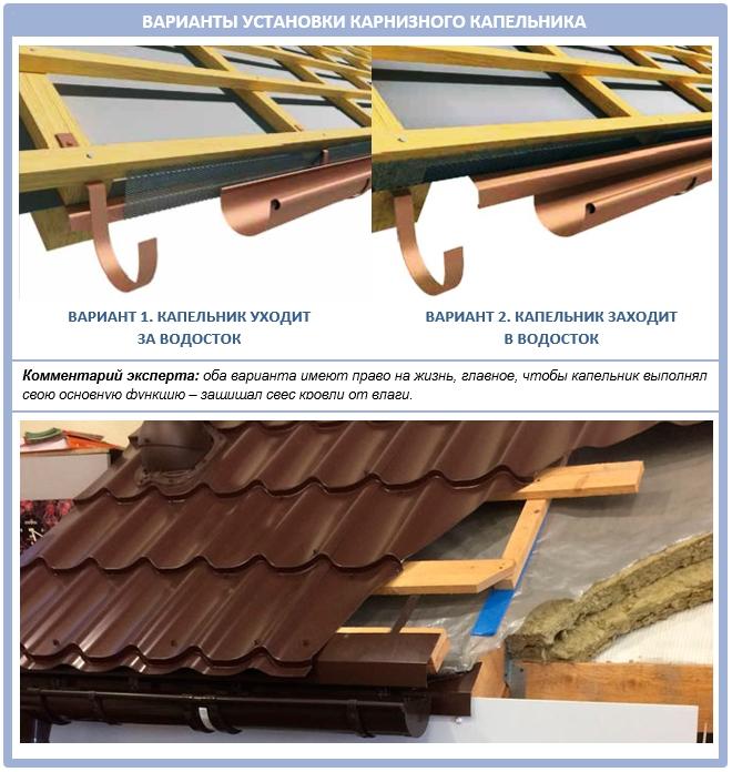 Как самостоятельно установить гребень на крышу из металлочерепицы?