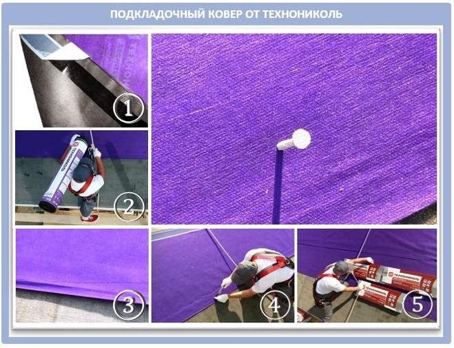 Подкладочные ковры для кровли от компании Технониколь