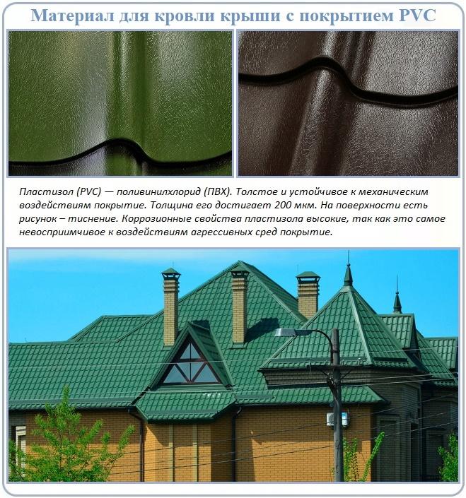 Что такое металлочерепица с ПВХ покрытием