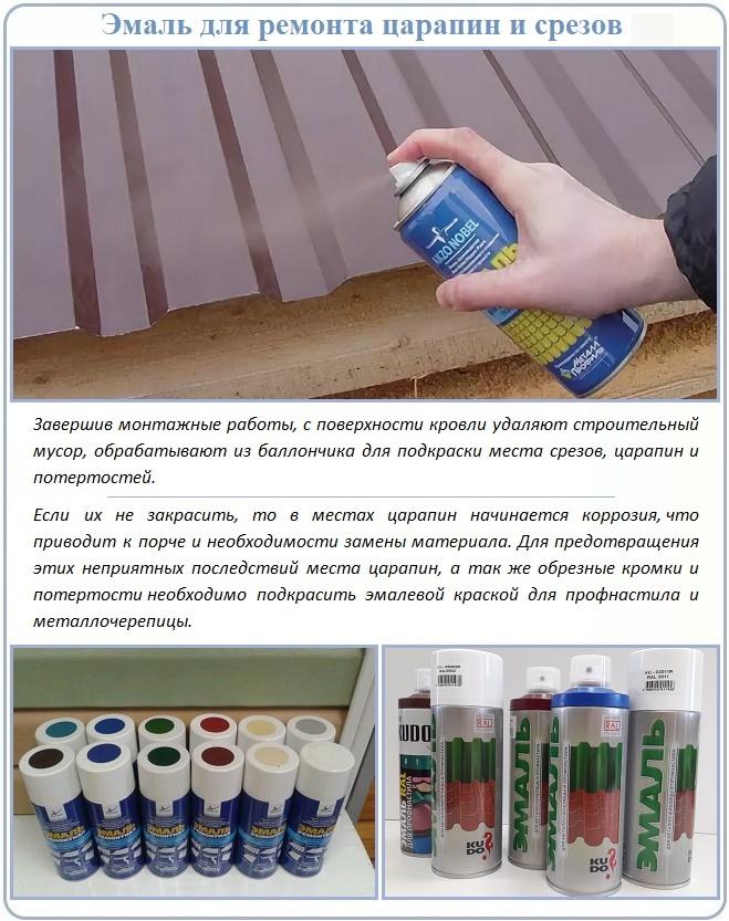 Аэрозольная краска для ремонта металлопрофиля