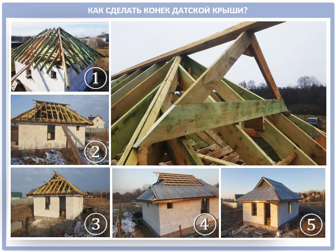 Как обустроить конек датской крыши?