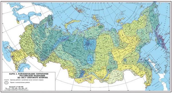 Карта снеговой нагрузки