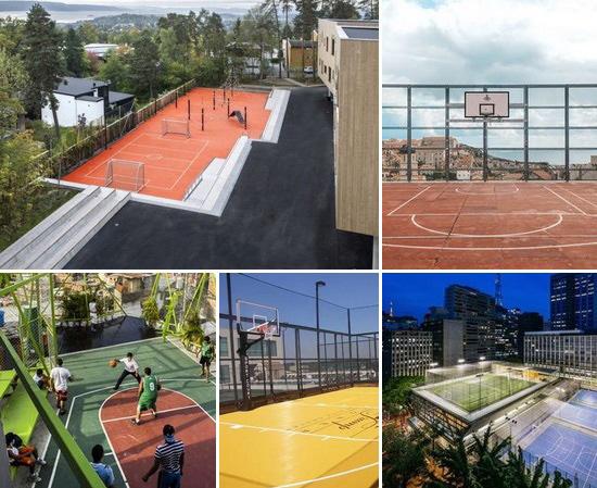 Спортивные площадки на террасе