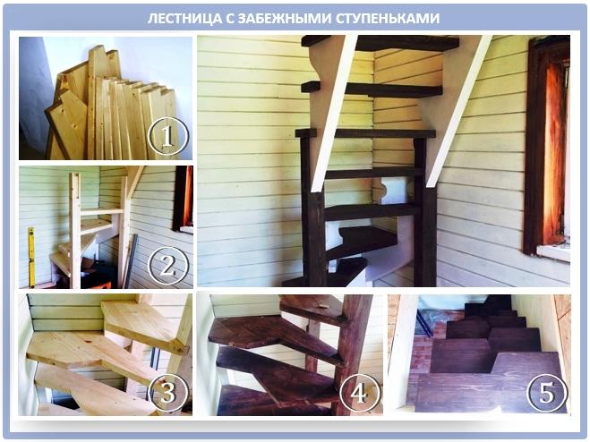 Лестница з забежными ступеньками