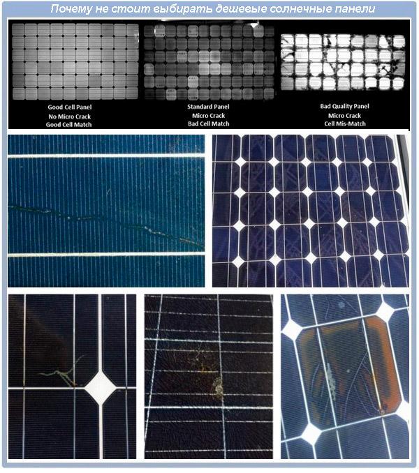 Дефекты дешевых солнечных панелей