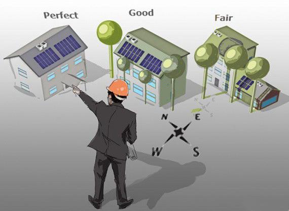Направление и затенение солнечных панелей
