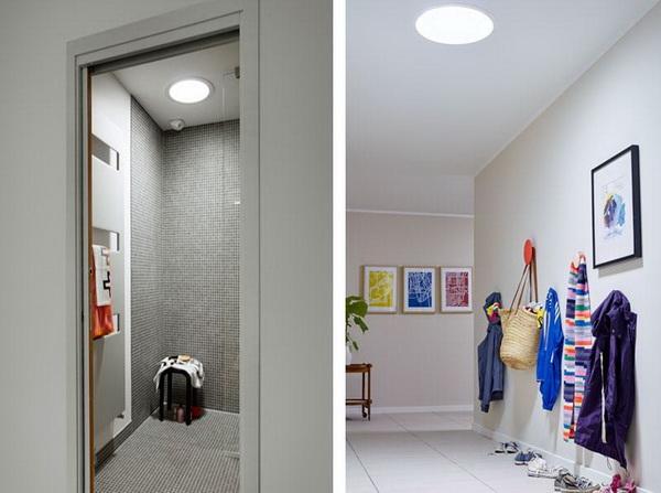 Световые тоннели в гардеробной и прихожей