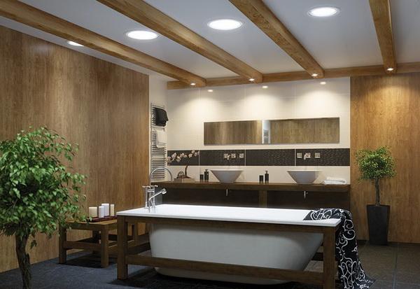 Световые тоннели в ванной комнате