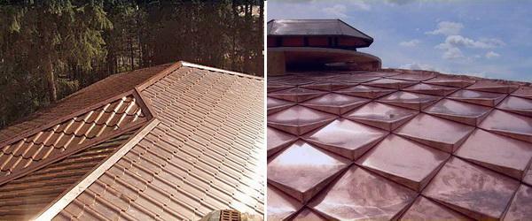 Две крыши из медной черепицы