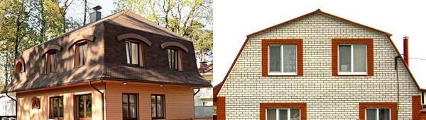 Мансардные крыши с разным уклоном