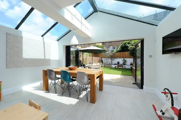 Эстетичная прозрачная крыша