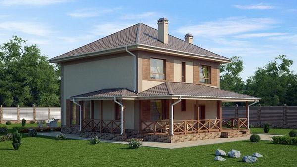 Дом с двумя пристройками