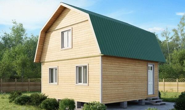 Стандартная ломаная крыша