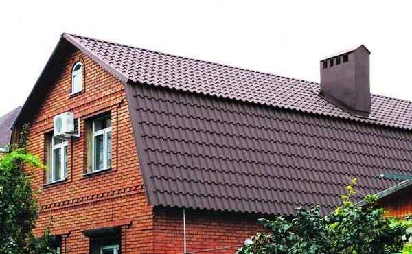 Стандартная двускатная ломаная крыша