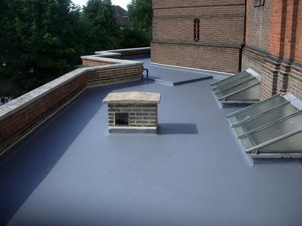 Гидроизоляция крыши из полиуретановой мастики