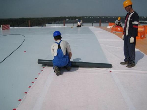Гидроизоляция крыши полимерной мембраной
