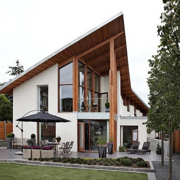 Односкатный дом с асимметричной крышей