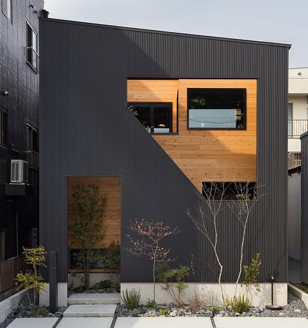 Дом с пологой односкатной крышей